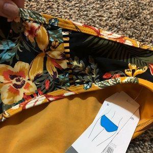 Time and Tru Swim - Yellow Floral Bikini Bottoms